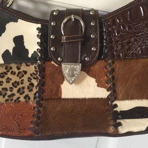 Handbags - Gorgeous Western Purse fanimal faux hair? patches